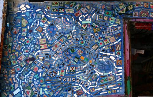 Isaiah Zagar mosaic mural