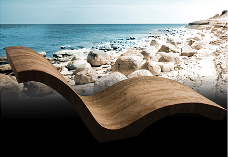 Chaise by Stone Forest