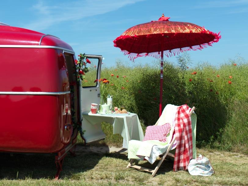 camper van and picnic