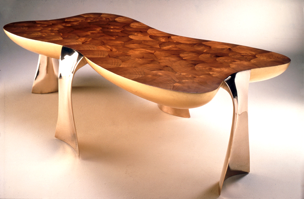 Low Table with Oysters by John Makepeace