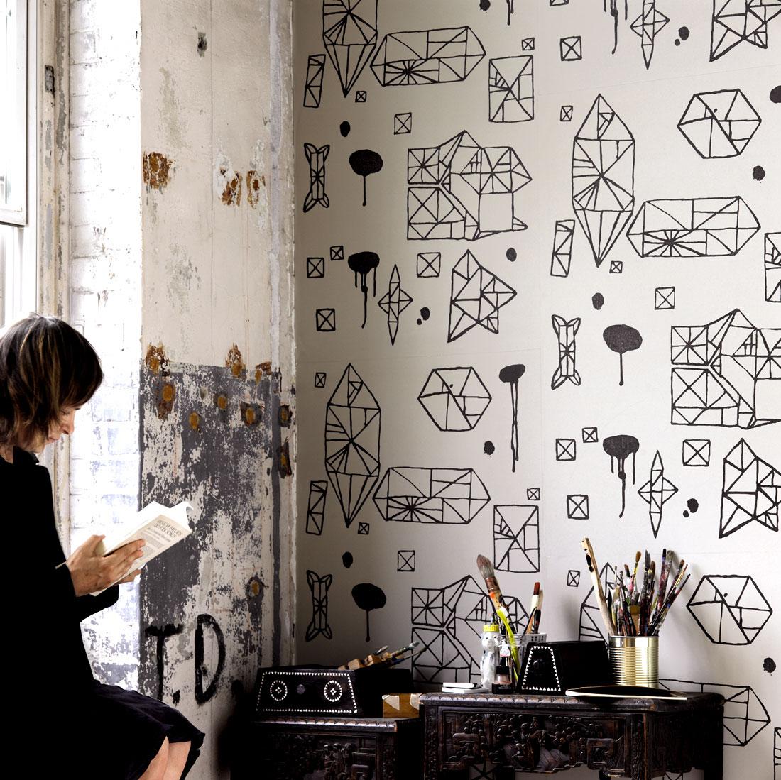 Random Geometry Nama Rococo Wallpaper