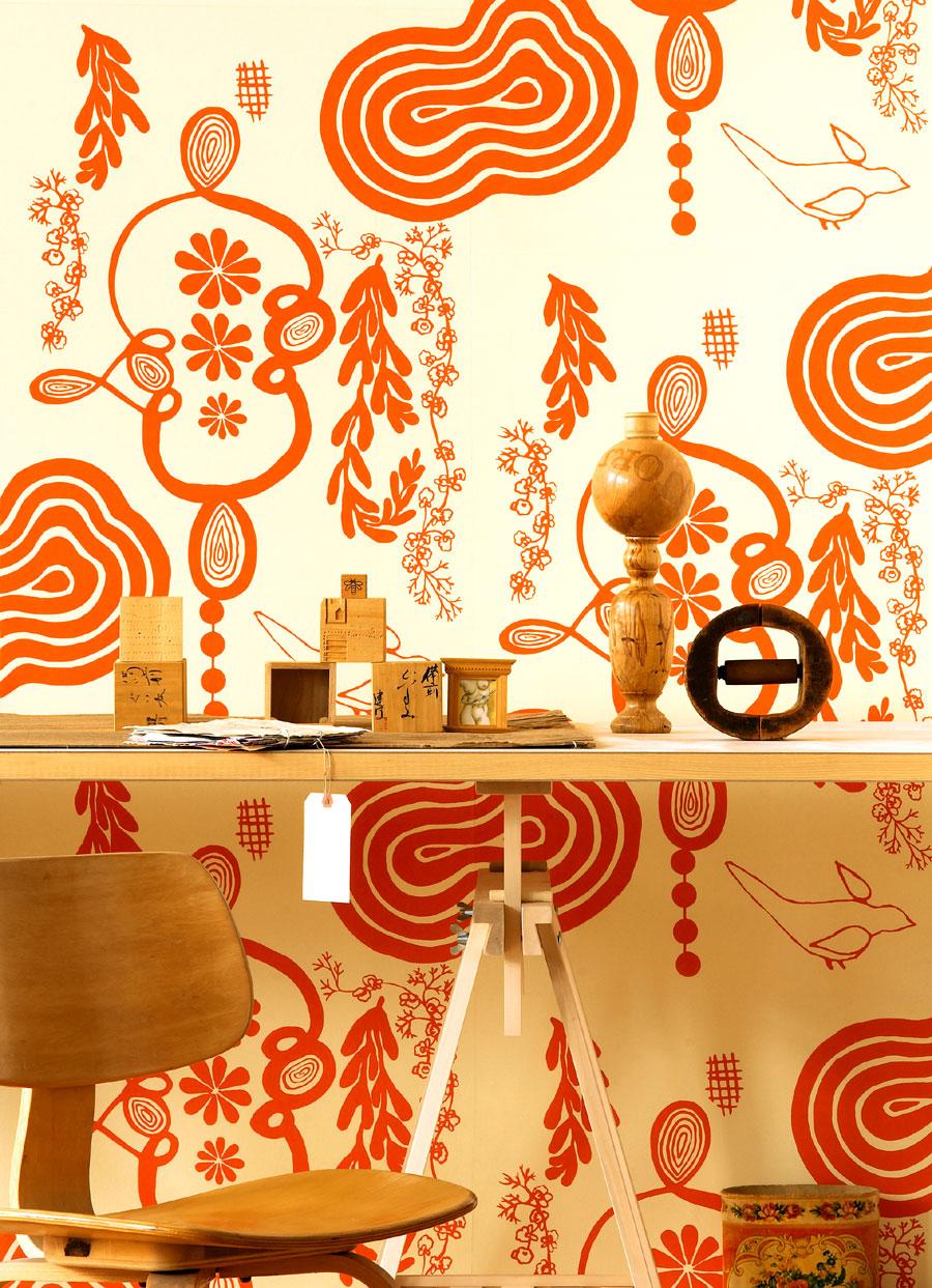 68 OrangeNama Rococo Wallpaper