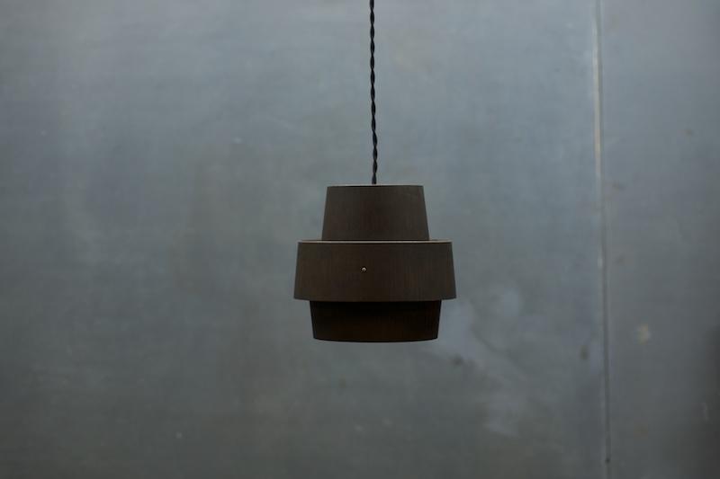 vintage black pine pendant