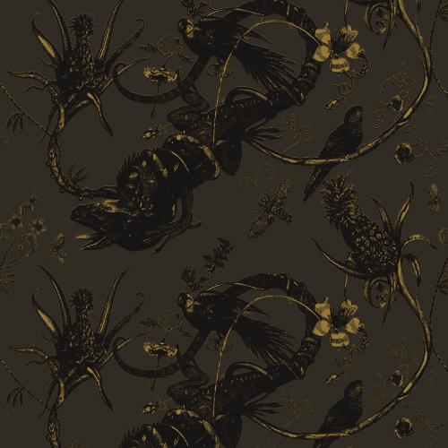 Iguana wallpaper by Timorous Beasties