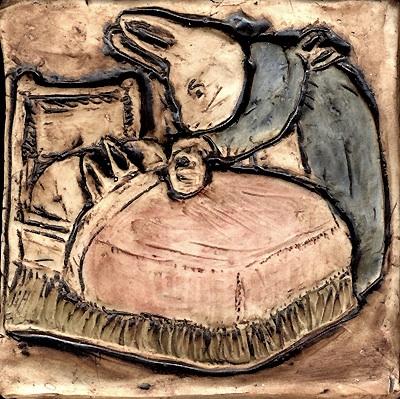 "4""x4""Peter Rabbit & chamomille tea Beatrix Potter"
