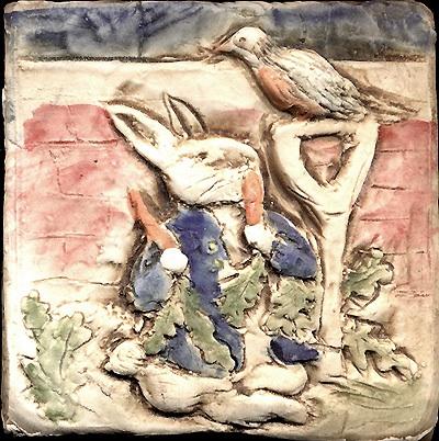 """4""""x4""""PeterRabbit&Carrots-BeatrixPotter"""