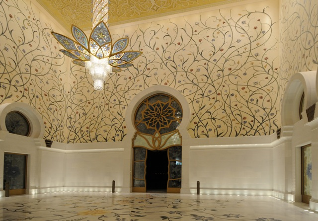 Abu Dhabi Mosque - Interior