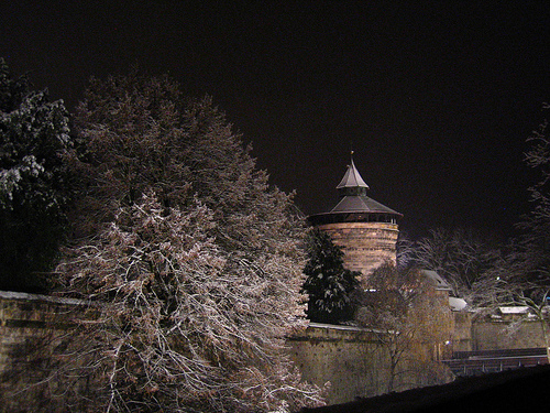 city of nuremberg in snow