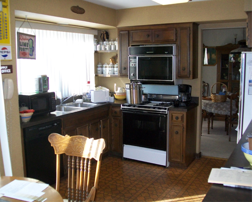 Before and After Kitchen by Leslie Lawrence of Normandy Builders