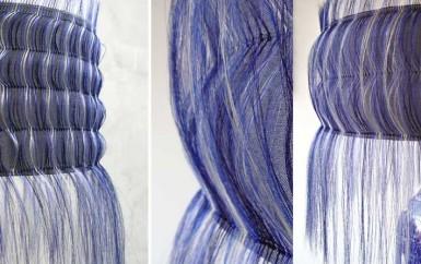 blue delft horsehair chandelier