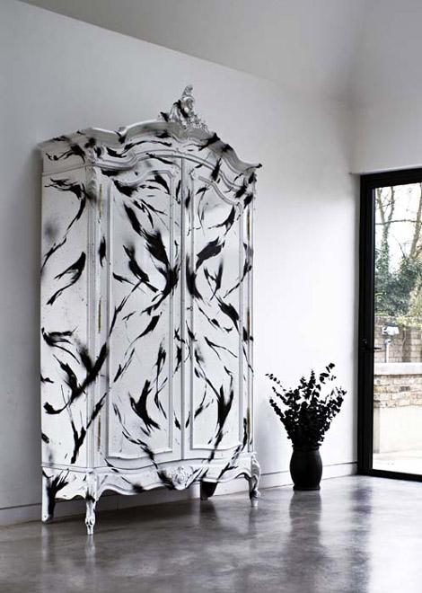 graffiti-black-white-furniture by Graffiti Kings