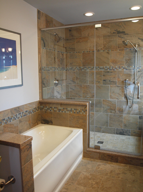 bathroom after by Ann Stockard of Normandy Builders
