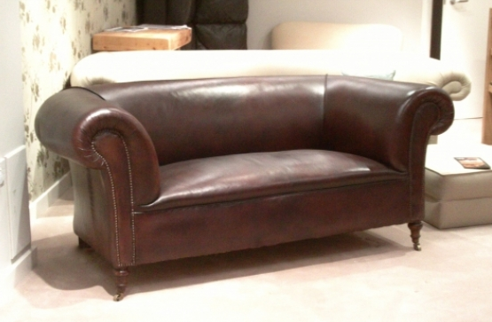 Original Victorian Hand Dyed Leather Chesterfield sofa, from The Origonal Sofa Company