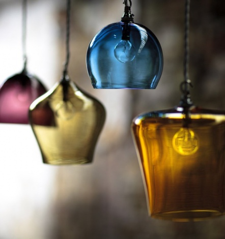 Hand blown lights from Curiosa and Curiosa