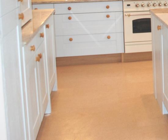 Cork floor used by Françoise Murat
