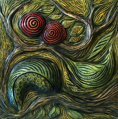 Marie Gibbons red pods tile