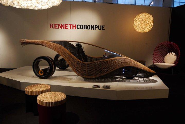 Kenneth Cobonpue stand with car