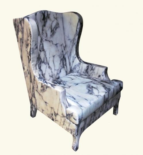 Marble Louis XV chair