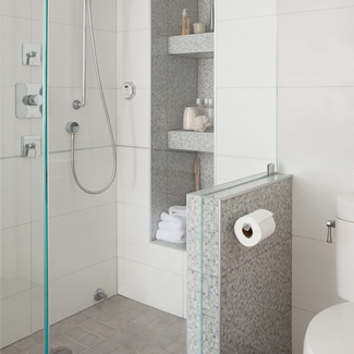 Awesome Look At The Difference Laura Has Made To The Shower Area. All That Glass  Keeps And Seamless Continuation Of The Wall Tile Into The Shower Keeps  Everything ...