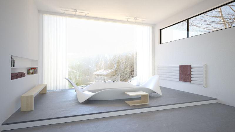 Bagno Sasso ocean wave bathtub