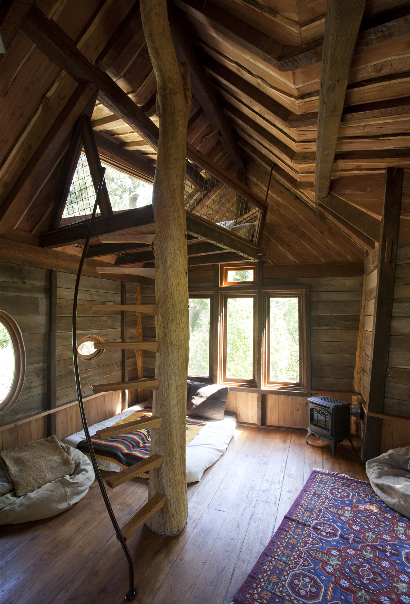 Interior Of Crystal River Tree House By David Rasmussen
