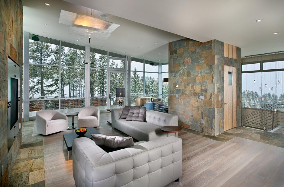 Lounge of Peak 8 Ski House - interior design by Donna Grace McAlear of New Mood Design Atlanta