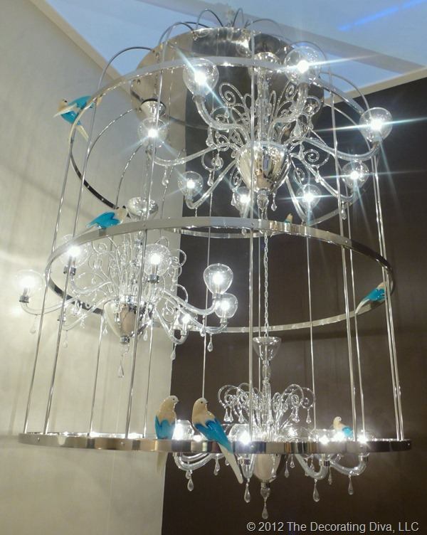 light interpretation of a bird cage by Mee Murano
