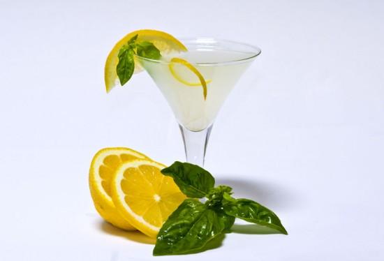 lemon basil cocktail