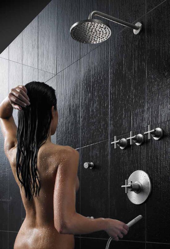 Enjoying a California Faucets shower