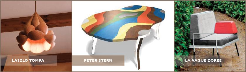 Laszlo Tompa Peter Stern La Vague Doree Tent London BlogTour London Design Fest Color Print Furniture Dakota Table Lighting