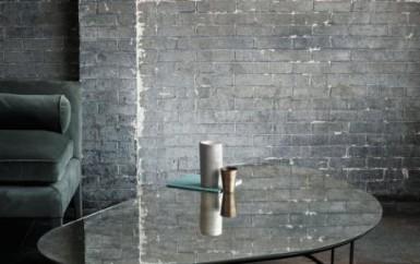 moon pebble table ochre interior design decorex London Design Fest furniture mirrored