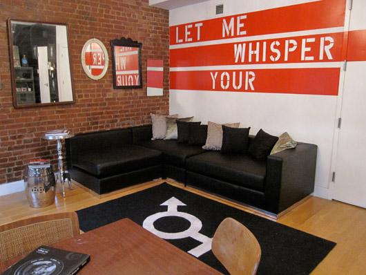 Home by Novogratz, interior design, HGTV, book review, bold color, living room, NYC