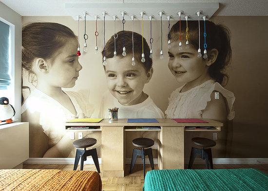 home by novogratz, review, interior design, HGTV, bold color, kid's room, wallpaper, bedroom