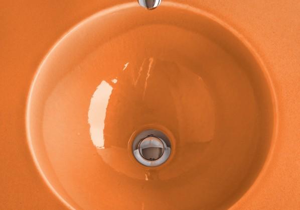 Pyrolave apricot sink