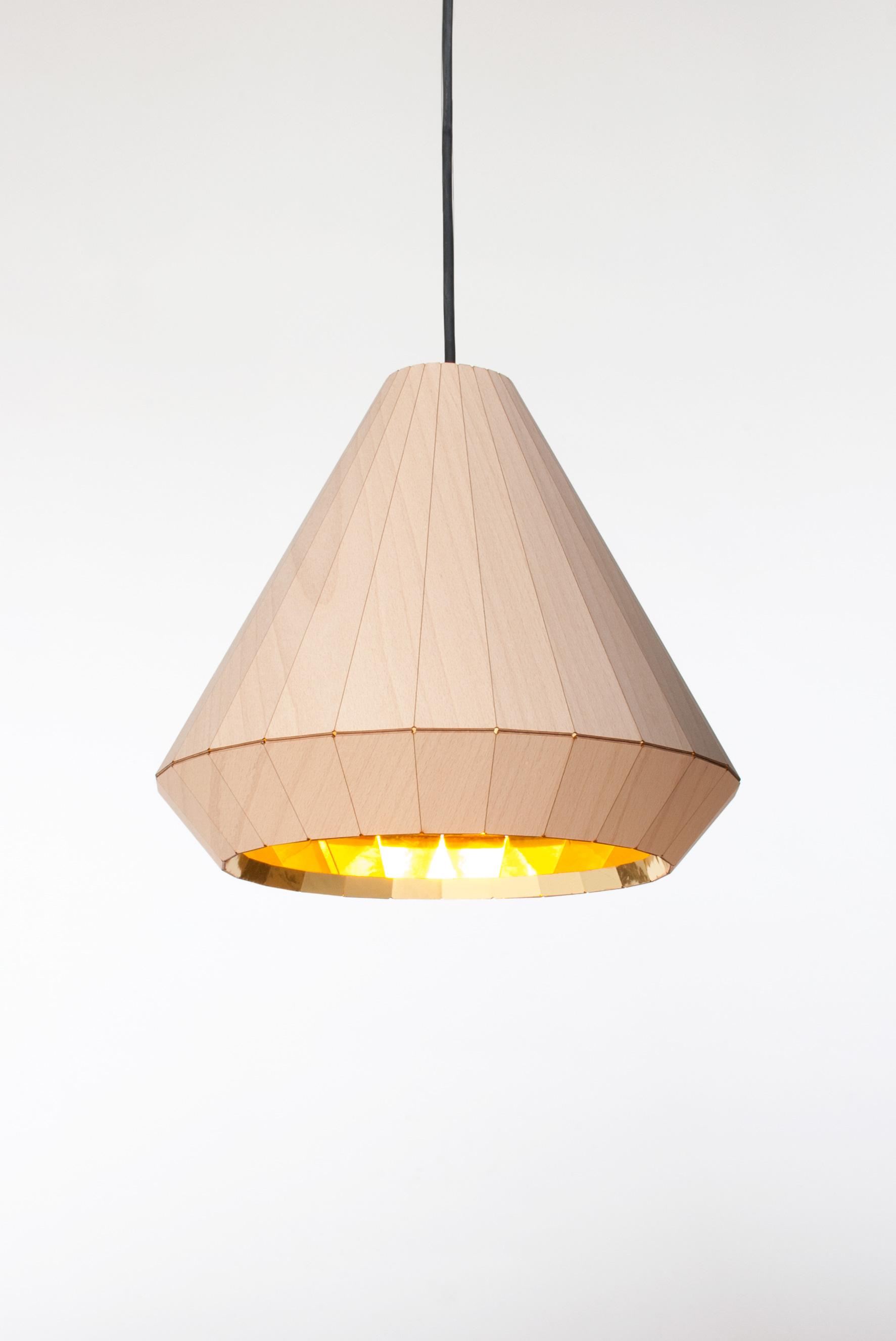 David Derksen Design wooden lamp