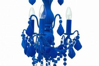Thomas & Vines blue chandelier