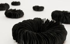 Valeria Nascimento, Black Anemones Wall Installation Detail