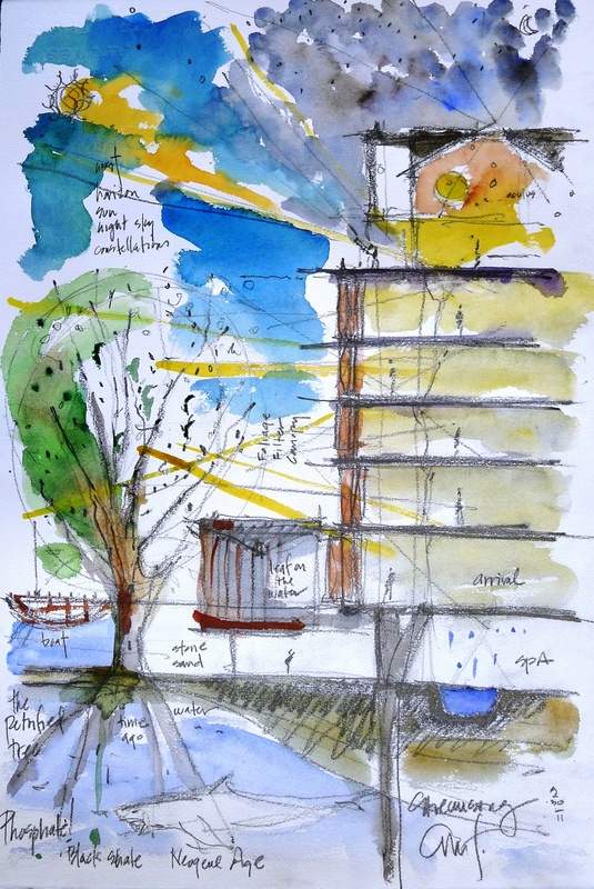 sketch by Alberto Alfonso for streamsong hotel