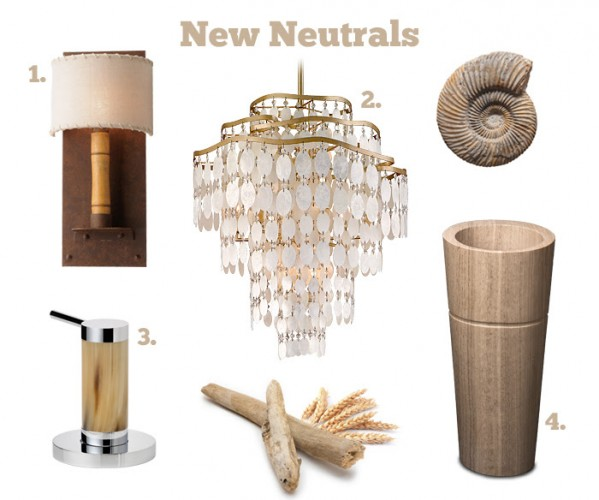 The New Neutrals - Taupes, Golds and Natural Woods - Interior Design