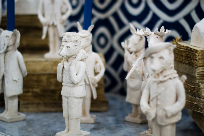 William Yeoward sculptures at decorex