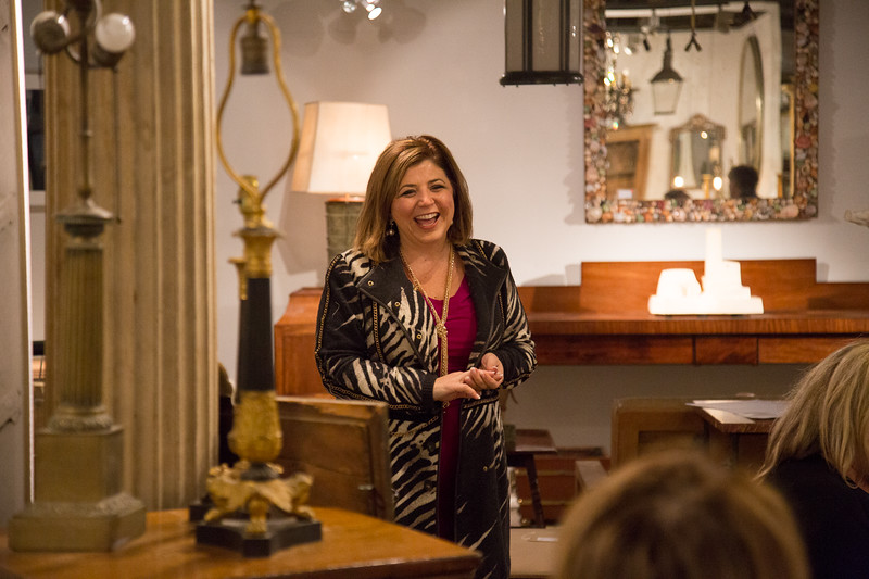 Toma Clark Haines, The Antiques Diva at Lorford's Antiques in Tetbury England