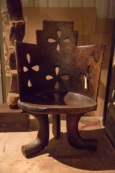 Antique ethiopian chair at Lorford's antique market