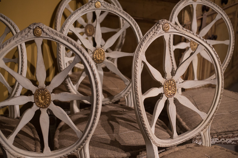 John Linnell style mid 18th century wheel back chairs