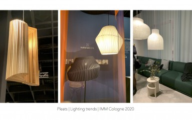trend  5 lighting trends IMM cologne 2020 Pleats