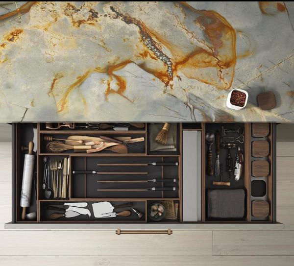 Cabbonet kitchens drawer interior
