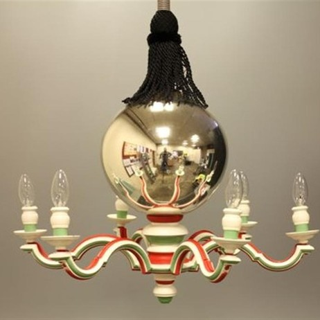 mercury ball armed chandelier by Lutyens Furniture & Lighting