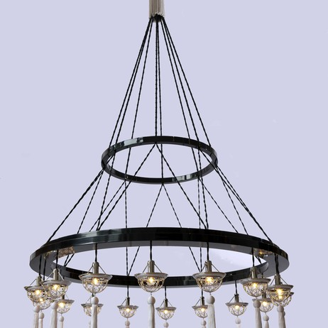Concentric Hoop chandelier by Lutyens Furniture & Lighting