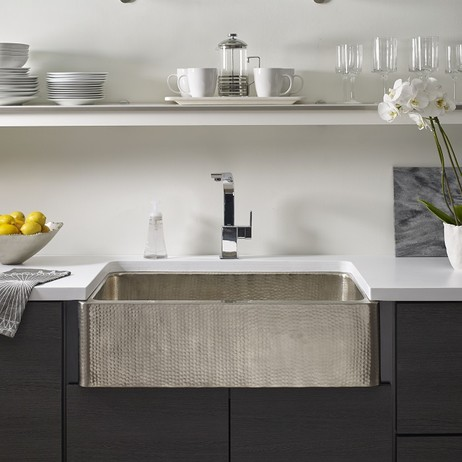 Lucca Stainless Steel Farmhouse sink by Thompson Traders