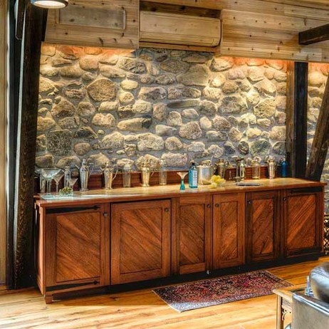 Sapele Wet Bar  by Crown Point Cabinetry