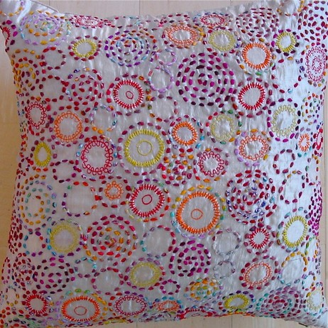 Silk Embroidered Pillow. by PAVO SF